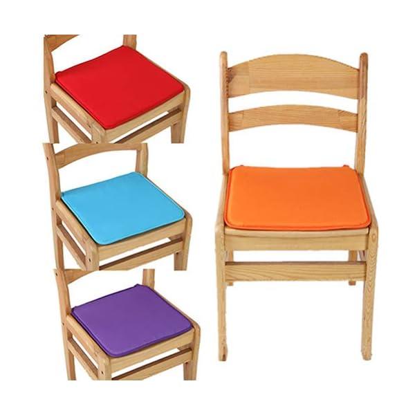 Risxffp - Cuscino per sedia da giardino, cuscino per esterni, patio, con fiocco Orange ★ Chunky Foam Comfortable Outdoor… 6 spesavip