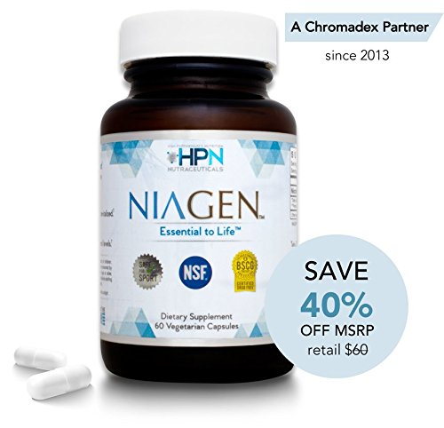 HPN Nicotinamide Riboside Metabolic Repair - FREE 2 Day Shipping - Patented NAD+ Booster with Niagen (Nr) - 60 Capsules - The Original and Most Trusted Longevity Product