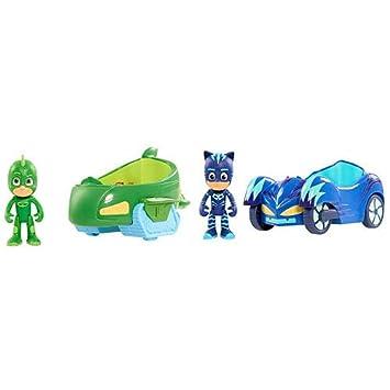 PJ Masks Pyjamahelden Figuren Gecko mit Geckomobil Simba Auto Fahrzeug