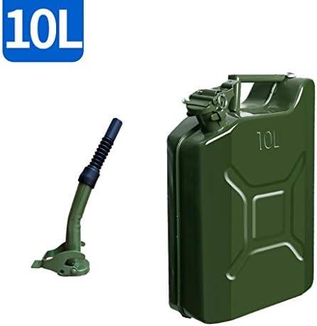 ガス燃料タンク、グリーン自動車緊急バックアップジェリー缶、厚み付けガソリン缶、5L、10L、20Lアメリカンスタイル予備燃料タンク (Size : 10L)