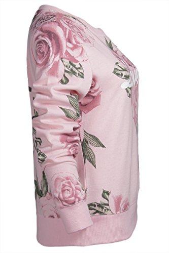 Ninety-One - Sudadera - Floral - redondo - para mujer Pink Floral Lovely