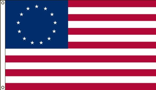 3x5 FT VALLEY FORGE BETSY ROSS COTTON FLAG 13 STAR FLAG EMBROIDERED AND SEWN US MADE by Valley Forge