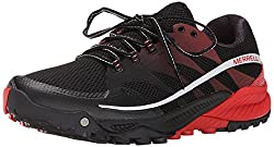 Merrell Men's All Out Charge Trail Running Shoe, Black/Molten Lava, 7 M US