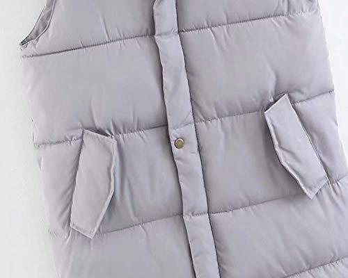 Capuche Couleur Avec Gris Blanc Pour Zhrui Femme Veste L Taille Et Jambières Quilted x8Uwn0AnqO