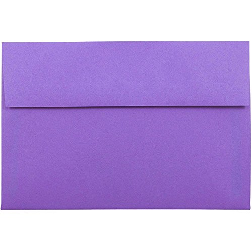 - JAM PAPER A8 Colored Invitation Envelopes - 5 1/2 x 8 1/8 - Violet Purple Recycled - 50/Pack