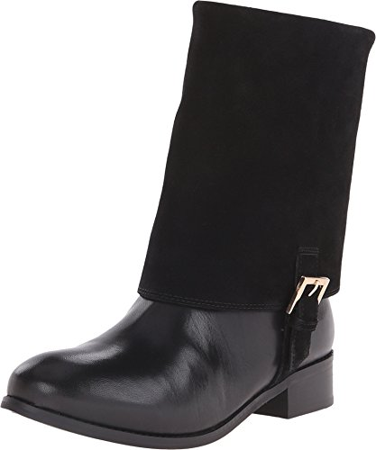 Trotters Women's Limona Black Full Grain Soft Nappa Leather/Cow Suede Leather Boot 6.5 N (AA)