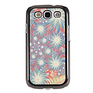 LIMME-Colorful Firecrackers Pattern Mirror Smooth Back Hard Case with HD Screen Film 3 Pcs for Samsung S3 I9300