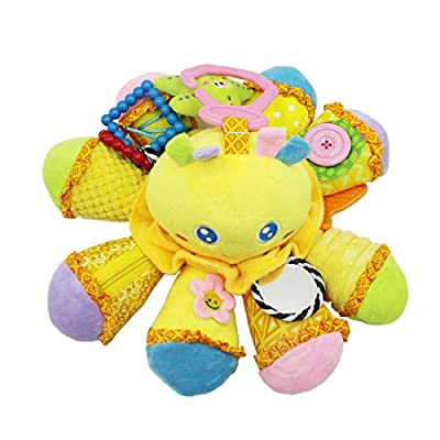 Baby Octopus Learn to Dress Activity Toy - Zip, Button, Lace & Tie, Fine Motor Skills Toys, Learning Basic Life Skills Toy, Baby Early Development Toys Stroller Crib Toy Soft Stuffed Animal : Baby