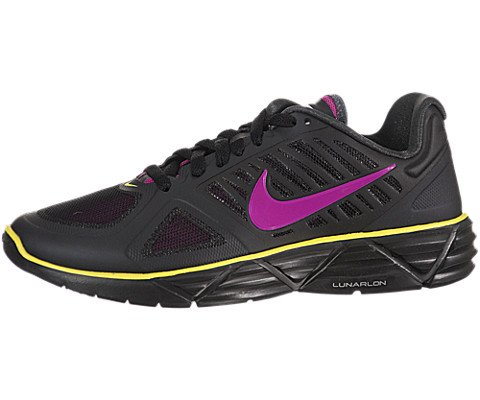 NIKE Women's WMNS LUNAR SWEET VICTORY II+ RUNNING SHOES 9 (BLACK/VVD GRP/ANTHRCT/SNC YLLW) -