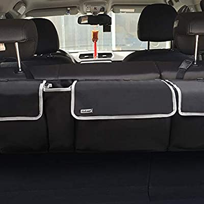 Backseat Trunk Organizer for SUV & Car - Hanging Organizer Foldable Cargo Storage Bag with 4 Pockets Adjustable Strap Durable Cover and Fit for Most Vehicles: Home Improvement