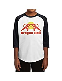 Kid's Boys & Girls Funny DBZ Humorous Design 3/4 Sleeve Baseball Raglan Shirt Jersey Small Black