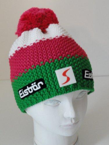 bene scarpe sportive acquista l'originale Berretto Eisbär pon pon Cuffia Star SP verde/rosa/bianco ...