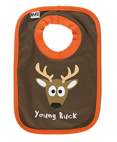 Goodnight Deer Baby Animal Print Bibs One Size by LazyOne | Cute Baby Shower Gifts (ONE SIZE)