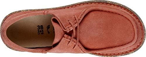 Birkenstock 151454 Delano Women Coral, Suede Leather Rosso