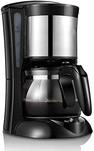 Jsmhh Máquina de café de Filtro Completamente automático del hogar Cafeteras Pequeño Mini Cafetera de Filtro Desmontable y un Plato Caliente de Aislamiento Anti-Goteo ...