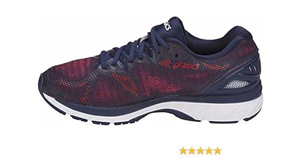 Asics Gel Nimbus 20, Zapatillas de Running para Hombre, Multicolor (Indigo Blue/Indigo Blue/Fiery Red 4949), 48 EU: Amazon.es: Zapatos y complementos