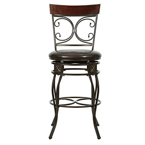 Powell Company Big and Tall Back to Back Scroll Barstool