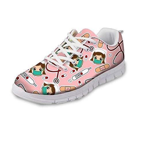 2 Zapatillas Mujer Print Nurse Showudesigns Para De Running FTq0R