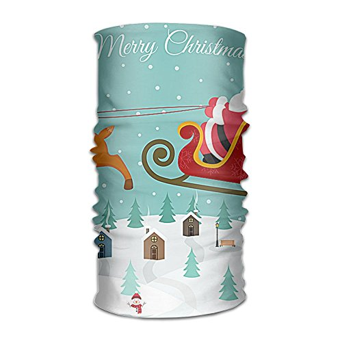 (Cute Cartoon Santa Claus Christmas Headband Bandana,Outdoor Multifunctional Headwear,Magic Scarf For Men Women)
