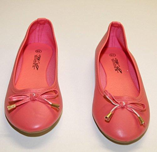 Classique Nodo Donna Ballerine Moda Corallo Pelle cedric Finta E Pierre pvYwZqZ