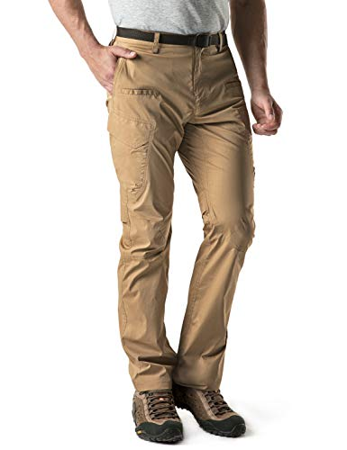 CQR Men's Convertible Pants Zipp Off Stretch Durable UPF 50+ Quick Dry Cargo Shorts Trousers TXP402/TXP401