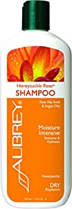 Aubrey Organics Honeysuckle Rose Shampoo * Moisturizing Argan Oil Shampoo with Rosa Mosqueta®, Moisture Intensive Therapy for Dry Hair - Sulfate Free & Paraben Free - 11oz