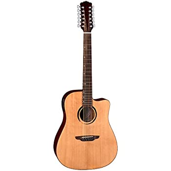 luna wabi dc 12 12 string acoustic electric guitar natural musical instruments. Black Bedroom Furniture Sets. Home Design Ideas
