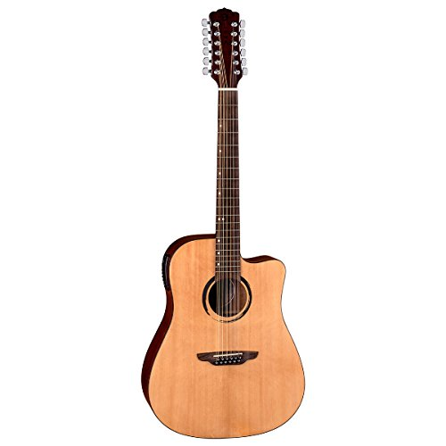 Luna WABI DC 12 12-String Acoustic-Electric Guitar, Natural