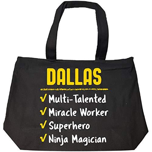 Dallas Talented Superhero Ninja Name Pride Funny Gift - Tote Bag With Zip -
