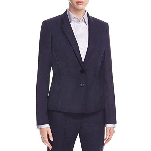 Hugo Boss Boss Womens Pinstripe Double Button Blazer Navy - Ladies Sale Hugo Boss