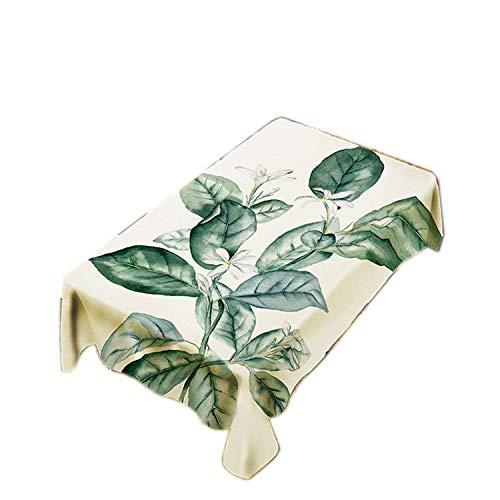 L 117 X 285CM CHUNXU Nappe en Polyester imperméable pour la Maison Motif Feuilles Vert, Synthétique, l, 117 X 285CM