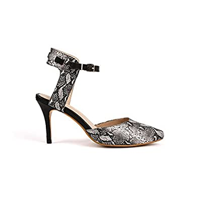 Alysia Women's DAISY Handcrafted Pointed Toe Heels-Black-US Size 6.5