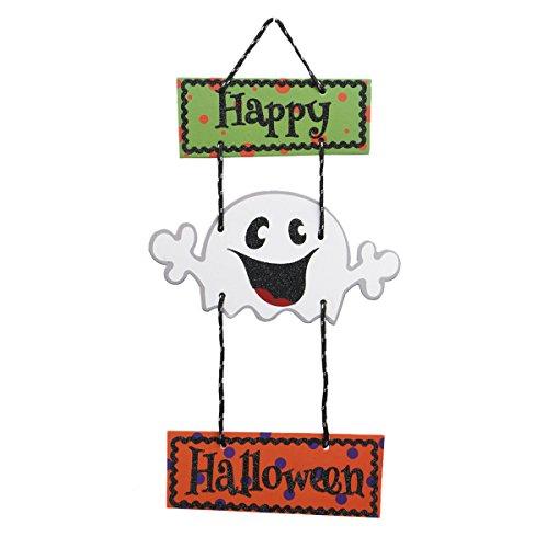Tinksky Happy Halloween Door Hanger Cute Ghost Decor Halloween Party Supplies Decorations