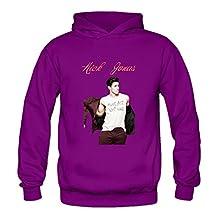 Crystal Men's Nick Jonas Long Sleeve Sweatshirt Purple US Size M