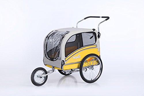 Yellow Sepnine Pet Dog Bike Trailer