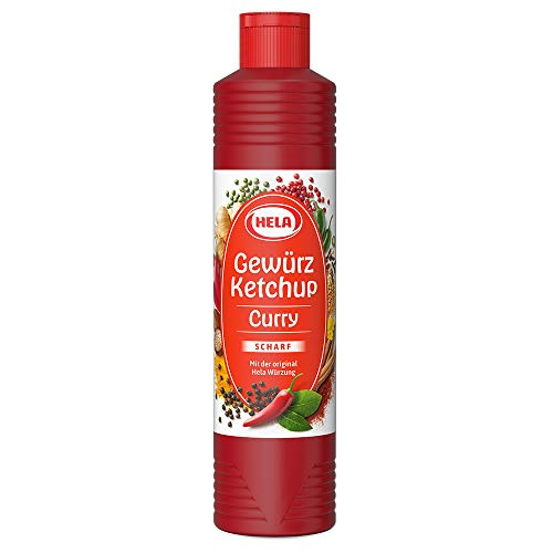 German Hela Curry spiced hot Ketchup - (800 ml)   perfect with meat, sausages, fish, fries, pasta and rice