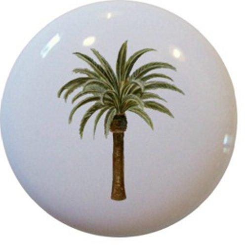 (Carolina Hardware and Decor 1322-2 Palm Tree Ceramic Cabinet Drawer Knob )