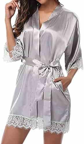 Lingerie THENLIAN Women s Lady Sexy Lace Sleepwear Satin Nightwear Lingerie  Pajamas Suit 832b4e685