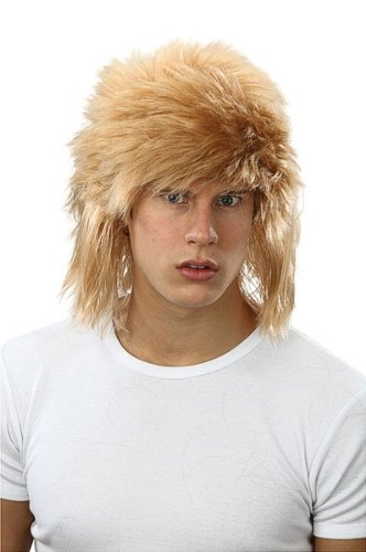 80s Glam Rock Star (Bristol Novelty BW713 Shaggy Wig, Blonde, One Size)