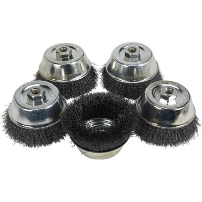 Klutch 5in. Crimped Wire Cup Brushes - 5-Pk.