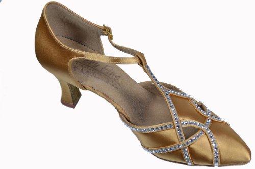 Scarpe Da Ballo Donna Da Ballo Per Salsa Latino Tango Signature S3801 Strass Satinato Ek11002 3 Tacco