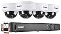 ANNKE 4CH 1080P POE NVR Security Camera System with 4xHD 1080P CCTV Dome Cameras