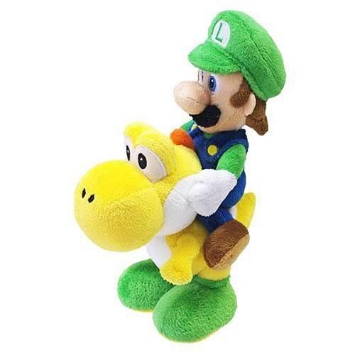 Nintendo Official Super Mario Luigi Riding Yoshi Plush, 8'' by Nintendo