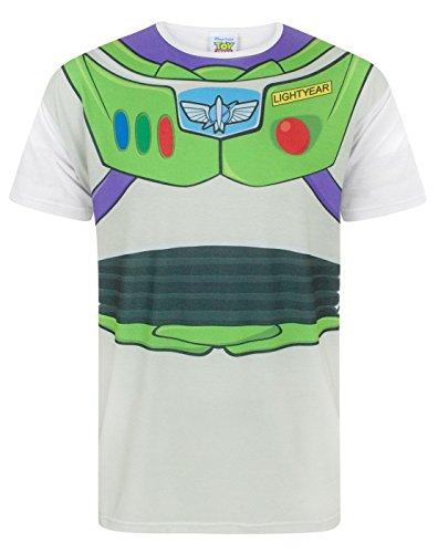 Disney Pixar Costumes Uk (Disney Toy Story Buzz Lightyear Costume Men's T-Shirt (M))
