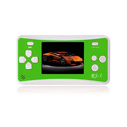 SKYRC Handheld Game Console for Kids,Classic Retro Game Player with 2.5'' LCD 8-Bit Portable Video Games Compatible with PAL AAD NTSC TV ,152 in 1 Classic Games -- (Green) by SKYRC (Image #4)