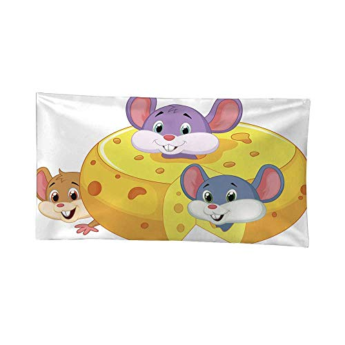 Nicely Wall Tapestries Cartoon Mouse Hiding Inside Cheddar cheese1 Tapestries Hippie 80W x 60L Inch