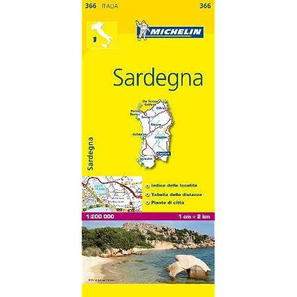 Mapa Local Italia Sardegna (Mapas Local Michelin): Amazon.es ...