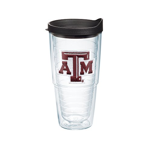 Texas A&m Aggies Tumbler (Tervis Texas A and M University Emblem Individual Tumbler with Black Lid, 24 oz,)