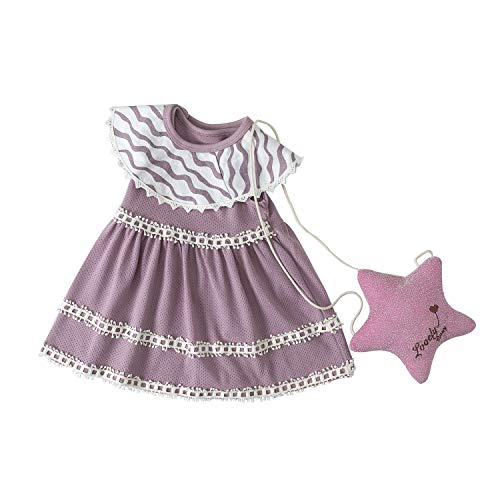 Baby Girl Dress Essentials Baby Outfits Tutu Dresses Outfit with Headband for Toddler Girls (Purple, 2-3 Years(110)) -