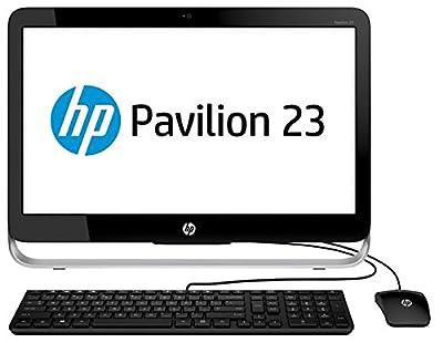 "HP Pavilion 23"" Full HD All-In-One AIO Desktop Computer, AMD Quad Core E2-3800 1.3Ghz CPU, 4GB RAM, 500GB HDD, DVDRW, USB 3.0, HD Webcam, WIFI, RJ-45, Windows 10 (Certified Refurbishd)"